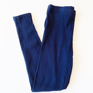 SHEIN Navy Blue Women's Ribbed Leggings Size Small